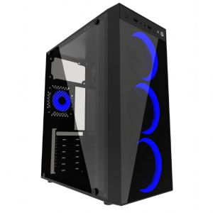 Gaming Case Gembird Fornax 1500B, Blue led fans