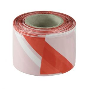 Delimitation and signaling strip 70mmx200m white-red