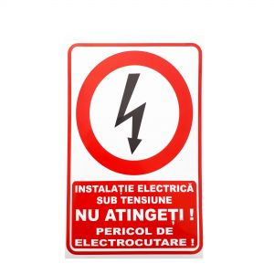 Do not touch the electric shock hazard indicator