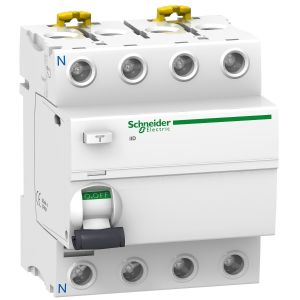 IID differential protection, 4P, 63A, 30mA, AC type, Schneider Electric ACTI9 A9R41463
