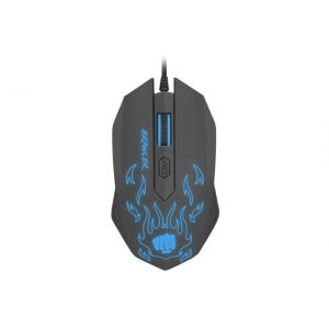 Mouse Natec Fury Brawler (NFU-1198), Optic, USB, cu fir, 1600 DPI, 4 butoane, Negru