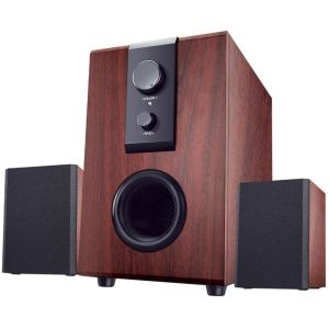 Speakers PC Tracer City, 2.1, 14W RMS, Brown