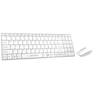 Kit Keyboard Wireless si Mouse Wireless Esperanza Liberty Alb