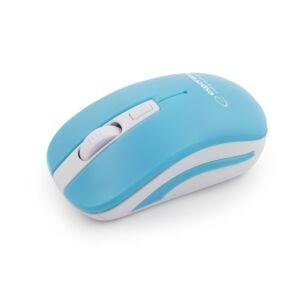 Mouse Wireless Uranus Esperanza, 2.4GHz, Albastru/Alb