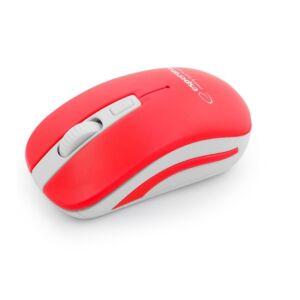 Mouse Wireless Uranus Esperanza, 2.4GHz, Rosu/Alb