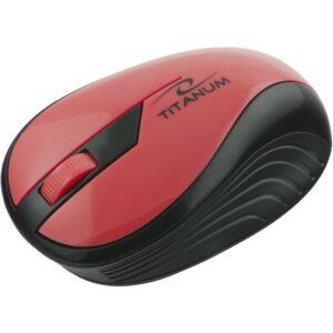 Mouse optic ESPERANZA Titanum, Wireless, 2.4 Ghz, 1000 DPI, Rosu